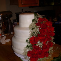 Rose Cascade Wedding cake i just made for this weekend.
