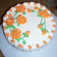 Orange Rose Cake. This is a variation of the WASC cake but I used the juice of 2 lemons plus their zest (with enough water to make one cup) and half a...