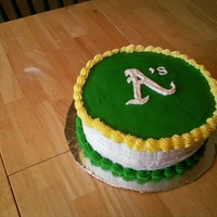 A's Birthday Cake A cake for my bro-in-law who's favorite team is - you guessed it - The Oakland A's.
