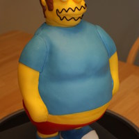 "Worst Cake Ever ""Comic Book Guy"" from the Simpsons TV series. PVC pipe internal structure. His bottom half was rice cereal treats covered with..."