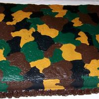 Camoflauge Cake All buttercream camoflauge sheet cake