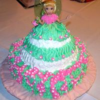 Tinkerbell Cake Heart cake with Tinkerbell doll cake