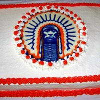 Illini Cake Buttercream cake, Illini chocolate transfer