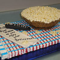 Popcorn Retirement Cake Design from Colette Peters.