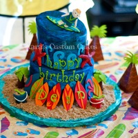 Surfer Cake!   Surfer themed cake for a 7th Birthday!