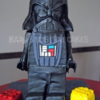 3D Lego Star Wars Darth Vader Cake For Icing Smiles  This is my 5th cake donated to the incredible non-profit, Icing Smiles! It is a 3D Lego Star Wars Darth Vader. The entire body is cake and...