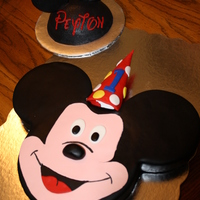 Mickey Mouse First Birthday Customer provided an image of her husband's first birthday cake and wanted to duplicate one for their son's first birthday.