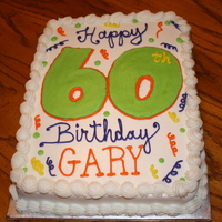 60Th Birthday Cake White chocolate cake with vanilla buttercream icing