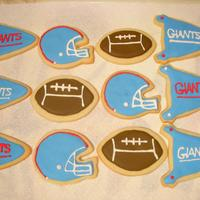 Giants Cookies These are for my best friend's daughter's cheerleading competition this weekend. :) NFSC & Antonia74 RI. TFL!