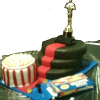 Stardom Sleepover Our Church had an MPact sleepover with a movie theme. This is the cake I came up with. The Oscar on top is the only non edible element. The...