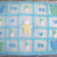 Baby Boy Shower Cake   All decorations were made of fondant and clay molds. Lots of fun to make.