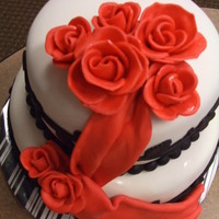 Rose And Draping Cake