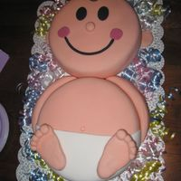 Wilton Baby Made this for a baby shower w/ fondant. I thought it turned out so cute!