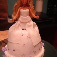 Barbie Cake For One Of My Daughters My first Barbie cake