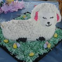 Lamb For Easter   first time doing a 3D cake