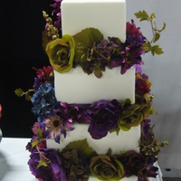 Fall Wedding Cake This is a cake I didi for the Fall Wedding Show.