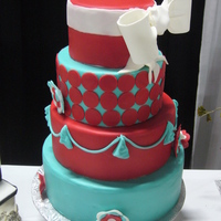 Bright And Bold Here is another cake done for the fall wedding show.