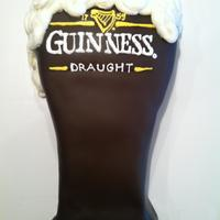 Guinness made with chocolate guinness cake!