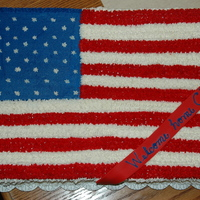 Flag Cake- Welcome Home Soldier