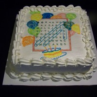 Word Search Cake