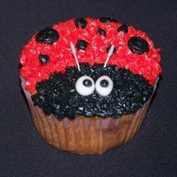 Lady Bug Cup Cake