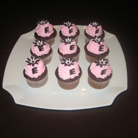 Babyshower Cupcakes Pink & brown chocolate cupcakes for a girl!