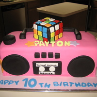 80`s Boom Box 80`s themed b-day cake for a girl.