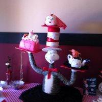 Cat In The Hat Baby Shower Cake!