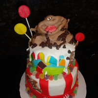 "Candyland My 16 year old son requested a ""candyland"" themed cake for his birthday as it was his all time favorite game. He asked that I..."