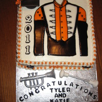 Ut Volunteer Graduation Cake Cake made for co-worker's son and his girlfriend, both in the Pride of the Southland band at the University of Tennessee Knoxville. As...