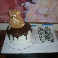 Ralphs Cake This is 2nd B-day cakes I've made like this >Red Velvet 3 layer cake with cc & fluffy frosting, chocolate genache in the...