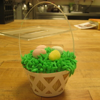 Easter Basket Cupcakes   Fun and easy cupcakes decorated with grass tip and chocolate eggs!