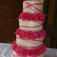 Hot Pink Ribbon Cake