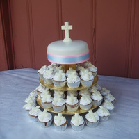 Baptism baptism tres leches cupcakes and 8 in carrot cake cheesecake cake made for a brother and sister baptism