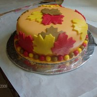 My First Fondant Cake..  autumn inspired, my first ever cake...I went to the oregon state fair and saw some beautiful cakes and decided I wanted to try that..and...
