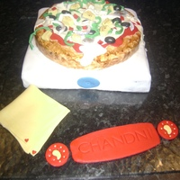 Pizza And Pizza Box Cake