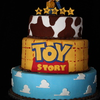Toy Story Cake Was asked to make this cake from a photo. Not sure who the original maker is. EDIT: Here is the original: http://www.cakecentral.com/...