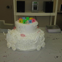 Twin Strollers Baby Shower Cake   Twin strollers baby shower cake