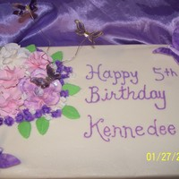 Kennedee's Purple And Pink Birthday Cake