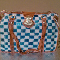 Lv Azur Hand Bag Cake   This was a Lv handbag the colors came out darker but i was happy with the end result