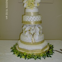 Calla Lily 50Th Wedding Anniversary Cake