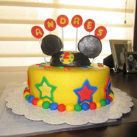Mickey Mouse Birthday Cake This cake was base on aemommy wonderful cake. I made this cake as practice cake for my son's second birthday as I hadn't...