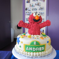 Elmo Birthday Cake  Yet another Elmo birthday cake. This one is inspired by afunk Spencer's Elmo Birthday cake. Mine is not near close to afunk's...