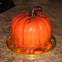Pumpking Cake carved pumpkin cake
