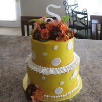 Fall Shower Cake fall baby shower cake with fresh flowers
