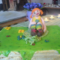 Pippi Langstrumpf I made this cake for my birthday. :)The figure is turkish delight.