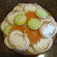 Fall Cookies  Inspired by sarah0418. Thank You!! My 1st attempt at RI & Sugar Cookies...I am excited to try again...think I can be a little cleaner...