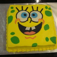 Sponge Bob I made this cake for a two year old's birthday party.
