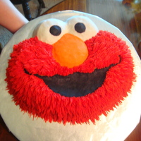 Elmo Cake I made this for my neices 1st birthday party. She LOVES Elmo!