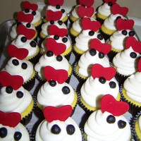 Zebra And Heart Cupcakes For Wedding